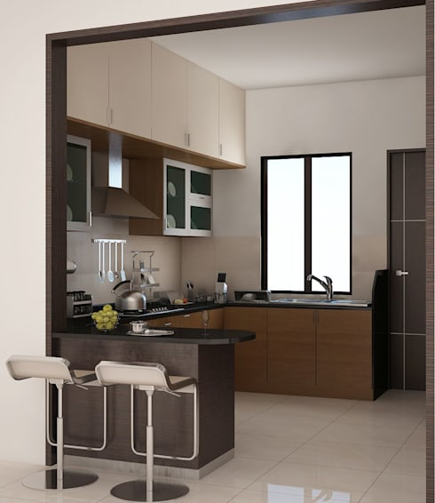 Apartment at Adarsh Palm Retreat: modern Kitchen by ACE INTERIORS