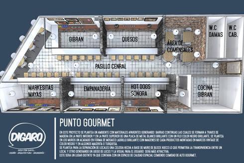 PUNTO GOURMET:  de estilo  por DIGARQ