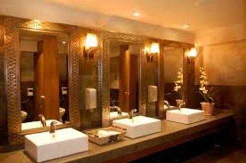 RUSTIC-KITCHEN: Baños de estilo  por Diseño Integral En Madera S.A de C.V.