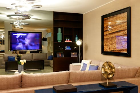 Cais do Sodré   2015: Salas de estar modernas por Susana Camelo