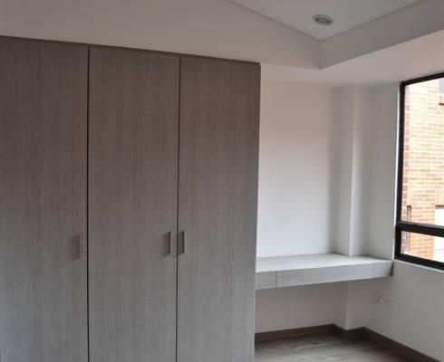 APARTAMENTO 104: Habitaciones de estilo minimalista por santiago dussan architecture & Interior design