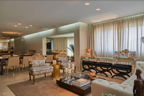 Apartamento AC: Salas de estar modernas por Gláucia Britto