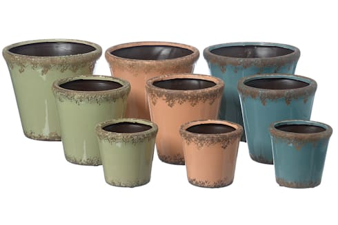 blument pfe und vasen aus terrakotta blumenampeln und wandk rbe aus eisen von. Black Bedroom Furniture Sets. Home Design Ideas