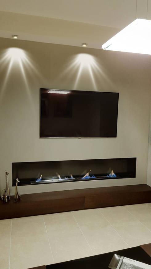 Decoraci n de interiores con chimenea de bioetanol - Muebles pladur fotos ...
