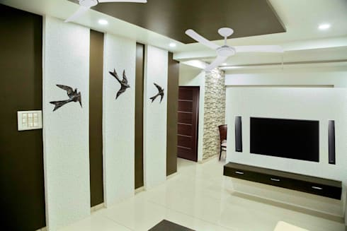 Living Room   Wall Art: Modern Living Room By ZEAL Arch Designs