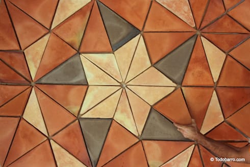 Suelo cerámico de Penrose (3 Tonos 01): Paredes y suelos de estilo moderno de Todobarro