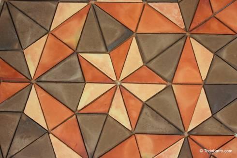 Suelo cerámico de Penrose (3 Tonos 02): Paredes y suelos de estilo moderno de Todobarro