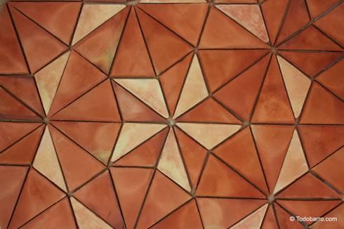 Suelo cerámico de Penrose (rojizo-paja 01): Paredes y suelos de estilo moderno de Todobarro