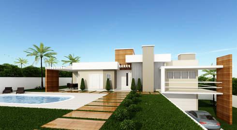 Construção Moderna: Casas modernas por Karina Bettega Arquitetura