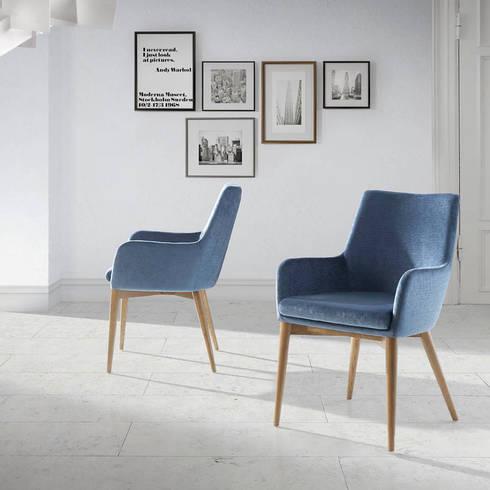 Cadeiras modernas  Modern chairs www.intense-mobiliario.com  Elegir http://intense-mobiliario.com/product.php?id_product=8839: Sala de jantar  por Intense mobiliário e interiores;