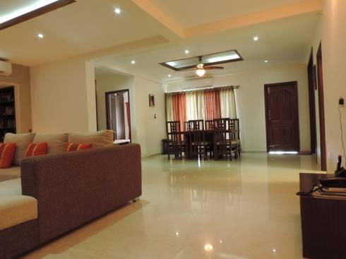 Flat Interior: modern Dining room by Joby Joseph Interior