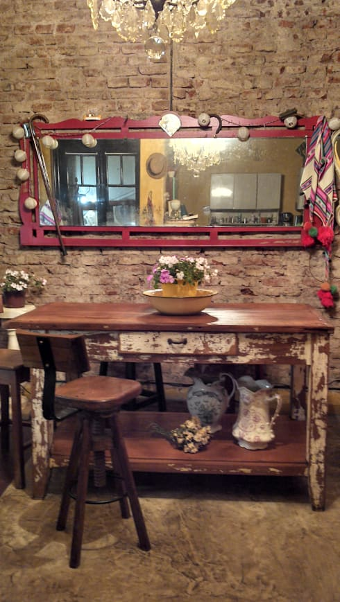 Muebles eran los de antes - Buenos Aires: rustik tarz tarz Mutfak
