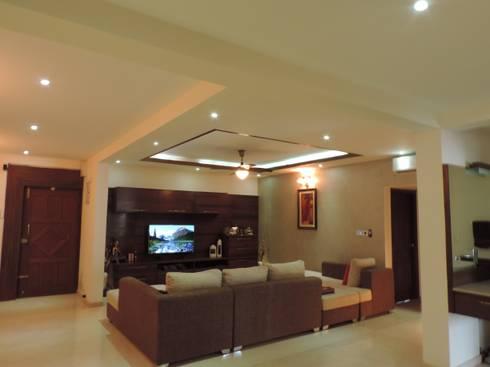 Interiors: modern Living room by Joby Joseph Interior