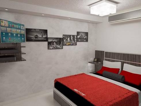 Diseño de apartamento privado:  de estilo  por Simon Lopez Diseños 3D
