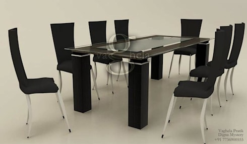 Dinning Area: modern Dining room by Vaghela interiors