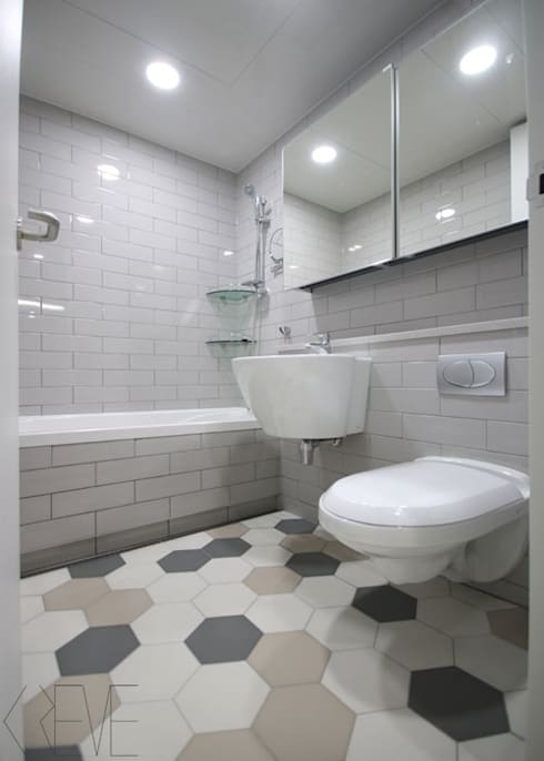 동탄아파트인테리어 반송동 시범다은마을 포스코더샵 33평 인테리어: 디자인스튜디오 레브의  욕실