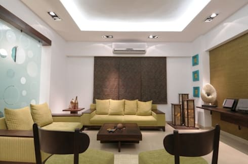 A SHOW APARTMENT: modern Living room by Archana Shah & Associates