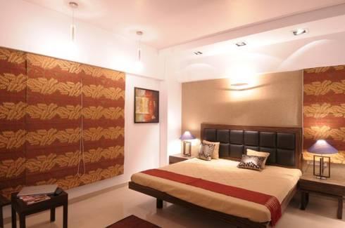 A SHOW APARTMENT: modern Bedroom by Archana Shah & Associates