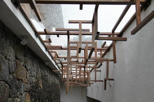 Estructura Domo: Terrazas de estilo  por VOLEVA arquitectos