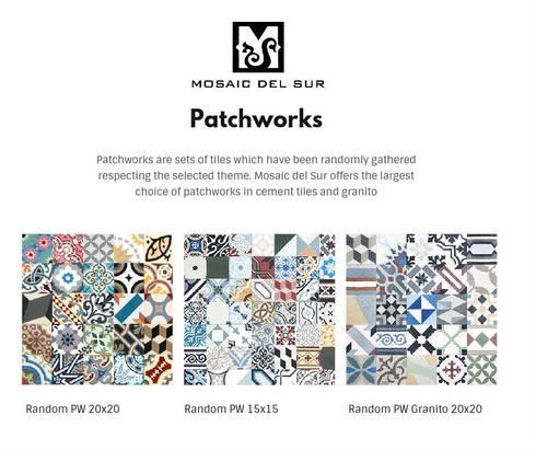 patchworks para todos os gostos por mosaic del sur homify. Black Bedroom Furniture Sets. Home Design Ideas