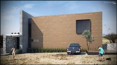 Casa C3M / Aguascalientes Ags / Casa de campo:  de estilo  por CANOCANELA arquitectura