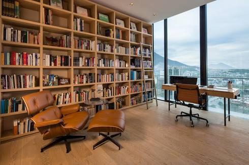 ESTUDIO: Estudios y oficinas de estilo moderno por Rousseau Arquitectos