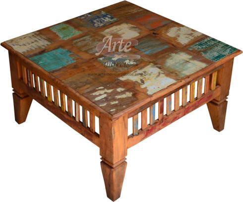 Mesas de centro r stica em madeira de demoli o peroba - Mesas de centro rusticas ...