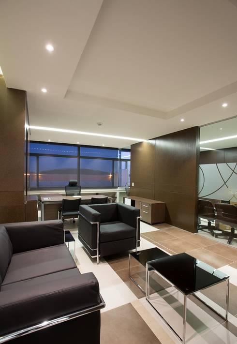 Oficina Presidencial: Estudios y despachos de estilo moderno por Qualittá Arquitectura