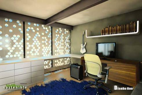 Departamento Colonia del Valle 2: Estudios y oficinas de estilo moderno por ARQUITECTURA SOSTENIBLE
