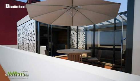 Departamento Colonia del Valle 2: Salas de estilo moderno por ARQUITECTURA SOSTENIBLE