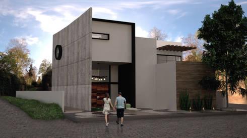 Jaguar: Casas de estilo industrial por SIMPLE actitud