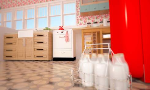 La cocina de la abuela: Cocinas de estilo clásico por SIMPLE actitud