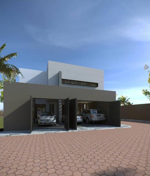 CASA BUGAMBILIAS: Casas de estilo minimalista por GYVA Studio