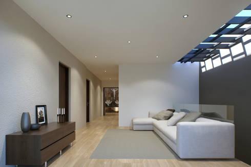 CASA BUGAMBILIAS: Salas de estilo minimalista por GYVA Studio