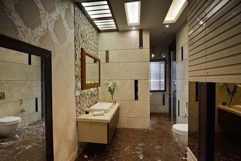 GAJENDRA YADAV'S RESIDENCE: modern Bathroom by Spaces Architects@ka
