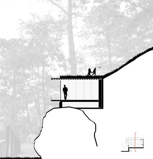 Pabellon en el bosque:  de estilo  por EMA Espacio Multicultural de Arquitectura