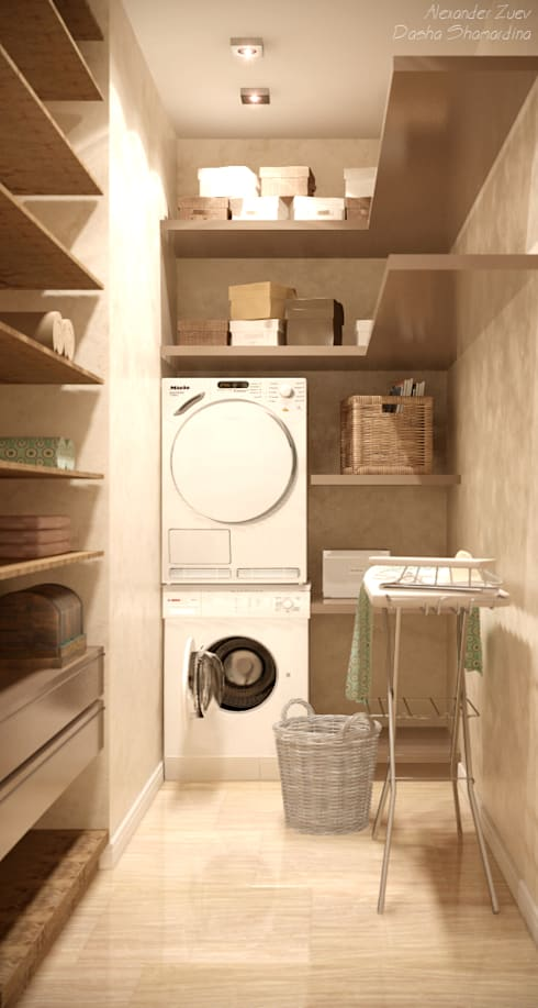 Студия интерьерного дизайна happy.design: modern tarz Giyinme Odası