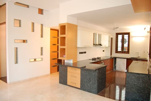 House of Dr. Hariharan: modern Kitchen by  Murali architects