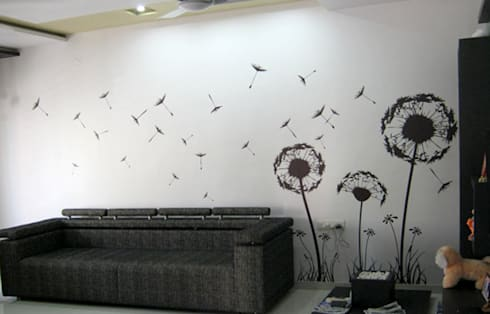 Living Room Graphics: modern Living room by BION Creations Pvt. Ltd.
