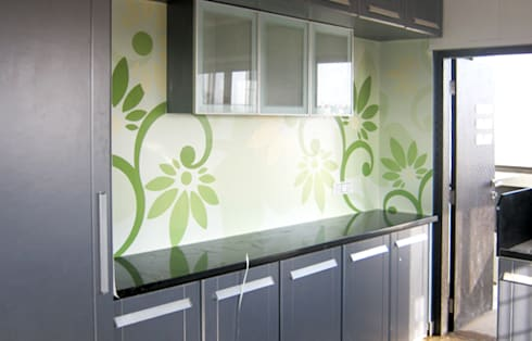 Kitchen Graphics: modern Kitchen by BION Creations Pvt. Ltd.