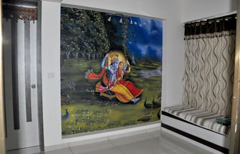 Spiritual Graphics:  Walls by BION Creations Pvt. Ltd.