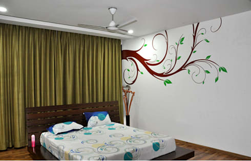 Bedroom Graphics: modern Bedroom by BION Creations Pvt. Ltd.