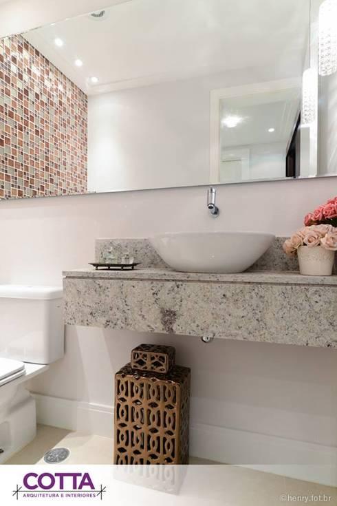 Apartamento 184m²: Banheiros modernos por Cotta Arquitetura e Interiores