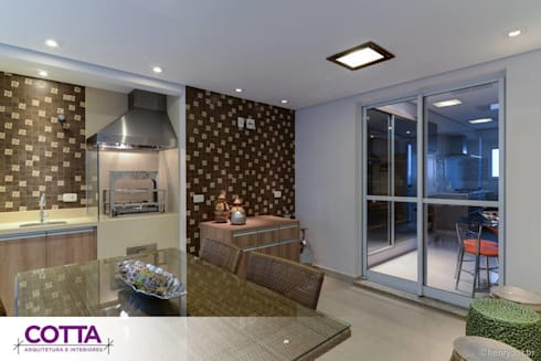 Apartamento 184m²: Salas de jantar modernas por Cotta Arquitetura e Interiores