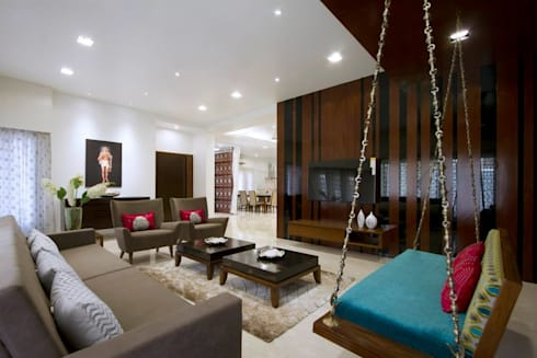 Mr. Sanjay patel—Bungalow: modern Living room by P & D Associates