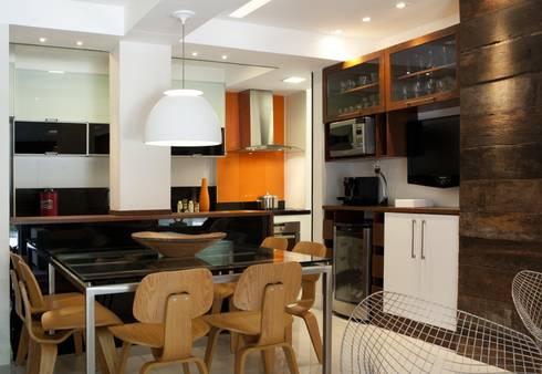 Apto K: Salas de jantar modernas por m++ architectural network