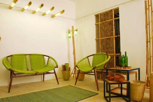 Bamboo Canopy: modern Living room by Errol Reubens Associates