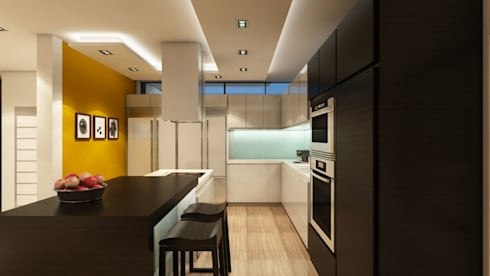 Villa Penélope: Cocinas de estilo moderno por NOGARQ C.A.