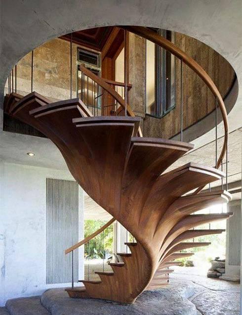 Proyectos de interiorismo varios : Pasillos y recibidores de estilo  por estudio 60/75