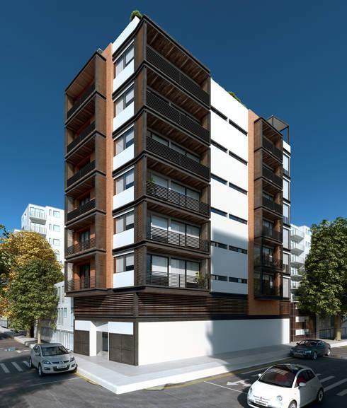 Edificio Natal: Hoteles de estilo  por Viztudio